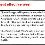 Treasury views on development effectiveness