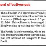Treasury views on development effectiveness