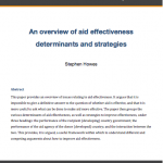 Aid effectiveness and bottom-up demand for better governance