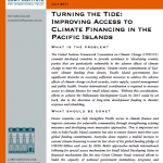 Improving access to climate funding for the Pacific islands