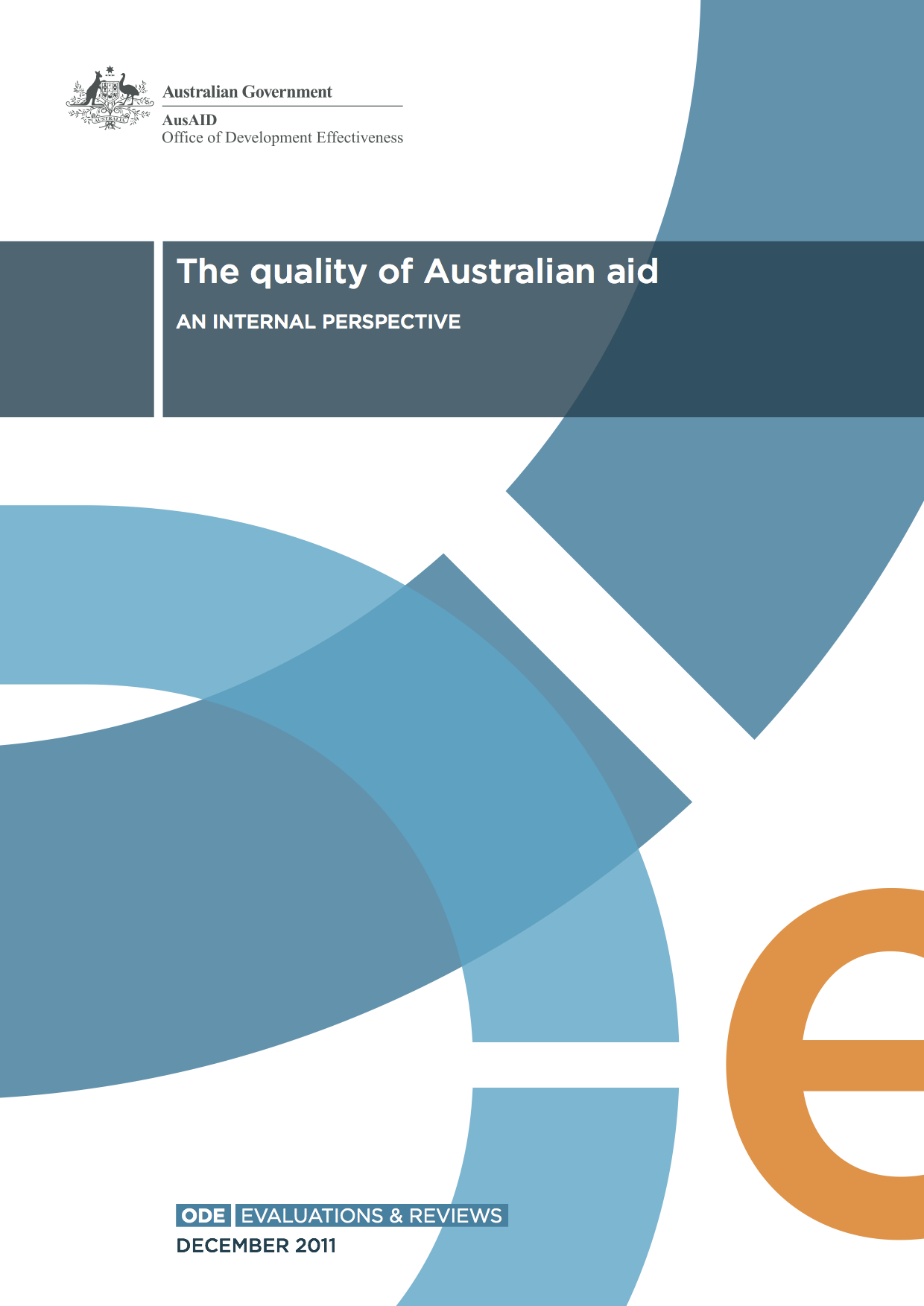 ODA Report: Quality of Australian Aid, an internal perspective