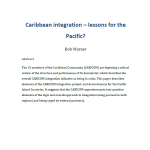 Pacific and Caribbean integration: between a rock and a hard place?