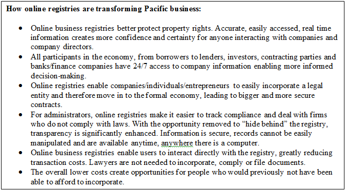 How online registries are transforming Pacific business