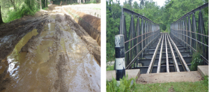 Poor road conditions and incomplete bridges