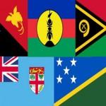 Melanesian Spearhead Group member flags.