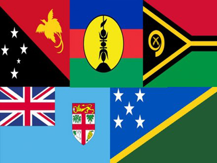 Melanesian Spearhead Group member flags.