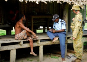 Policing in the Solomon Islands.  Photo: ADF.