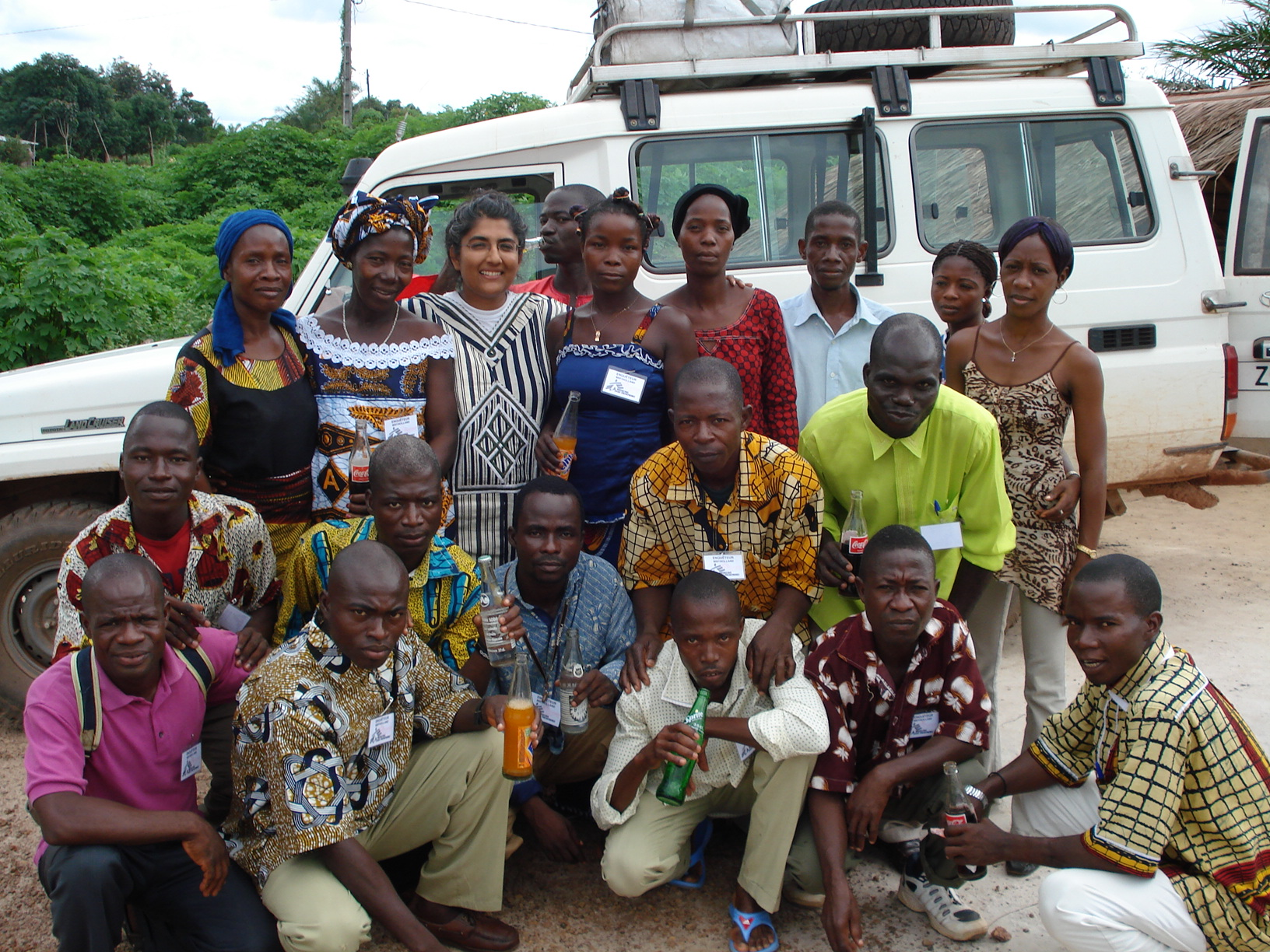 Kamalini Lokuge with a survey team in Cote d'Ivoire