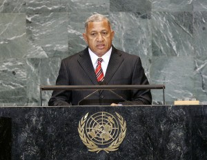 Josaia Bainimarama, Prime Minister of Fiji, addressing the general debate of the 64th UN General Assembly