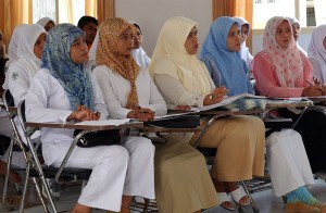 Indonesian nursing students at the University Hospital in Banda Aceh on the island of Sumatra, Indonesia