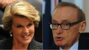 Shadow Foreign Minister Julie Bishop and Foreign Minister Bob Carr