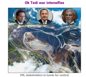 Front-page image in the online PNG Post Courier on Wednesday September 16
