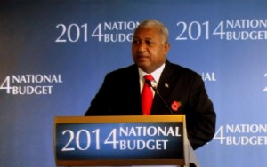 PM Commodore Voreqe Bainimarama announcing the 2014 Budget November 8