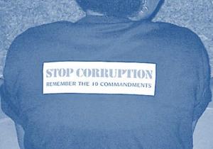 Stop corruption remember the 10 commandments