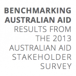 2013 Australian aid stakeholder survey. Part 1: the good news
