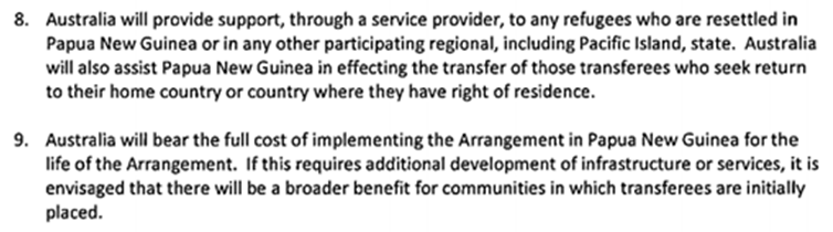 Regional resettlement arrangement