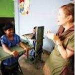 Katherine Benfer, Speech and Language Therapy Trainer, Bangladesh. Photo - Dean Saffron.