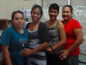 I-Kiribati's female (former) migrants - Agnes, Tepikines, Tiera and Teita in Kiribati (March 2014)