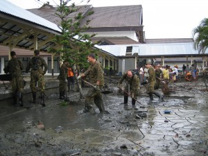 ADF clean-up, Banda Aceh general hospital