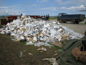 Discarded medical supplies, Banda Aceh
