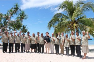 Leaders at the Pacific Islands Forum in Majuro, Marshall Islands, 2014. Photo - Pacific Islands Forum Secretariat.