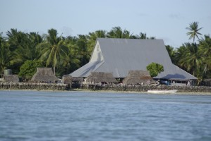 In Kiribati the maneaba is constructed to provide plenty of ventilation. This is where patients will convalesce for many months. Photo by Naomi T/Flickr.