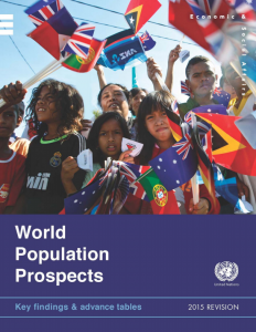 World Population Prospects cover