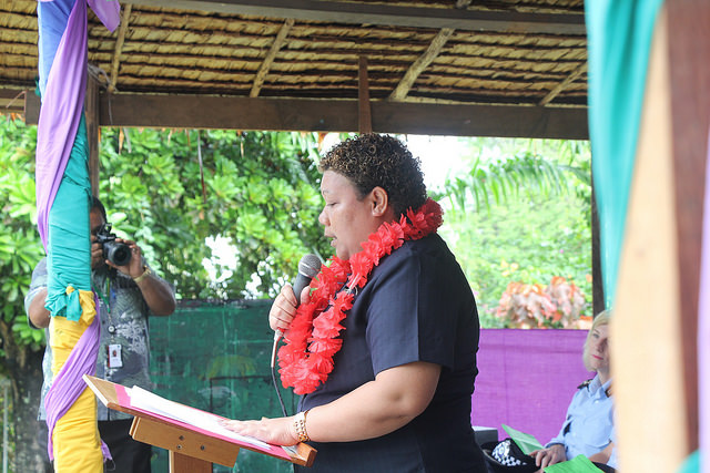Hon Freda Tuki Soriacomua - the only woman elected in the Solomon Islands 2014 national elections (image: Flickr/UN Women/Marni Gilbert)