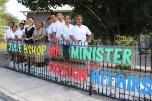Foreign Minister Julie Bishop during a recent trip to Nauru. Gay Uera / DFAT