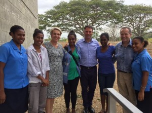 The Labor delegation meeting university students in PNG. Via Richard Marles' Twitter.