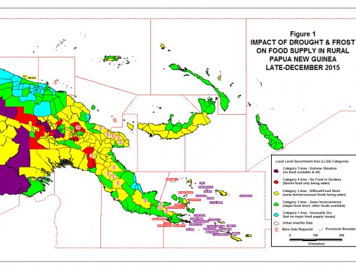Impact of drought and frost in PNG: new policy brief