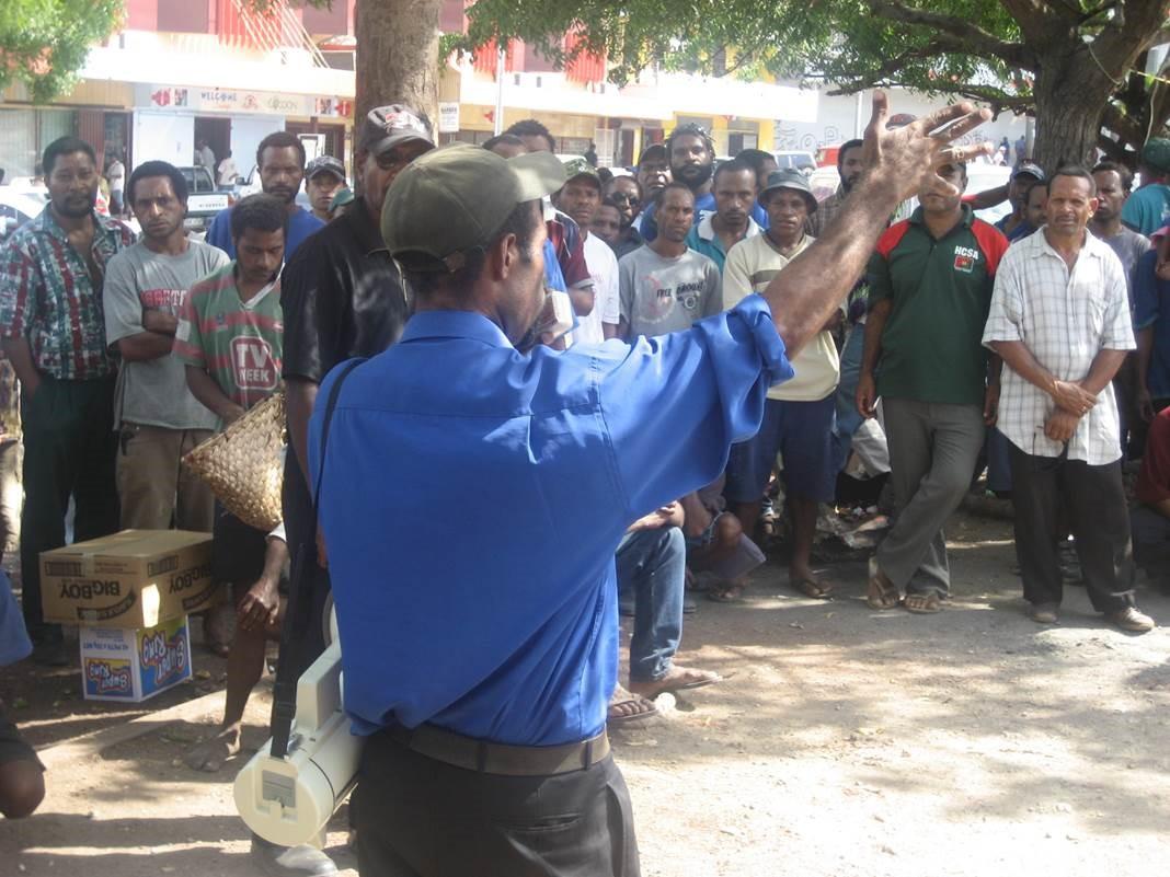 Anti-corruption activism in PNG (image Grant Walton)