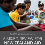 A mixed review for New Zealand aid: the 2015 stakeholder survey