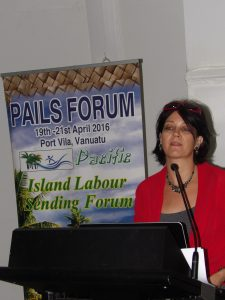 Carmen Voigt-Graf presenting at PAILS Forum 2016