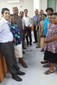 Manoj Pandey and SBPP staff, April 2016