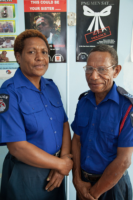 Police officers Peter and Malen, Waigani Family and Sexual Violence Unit (DFAT, Ness Kerton)