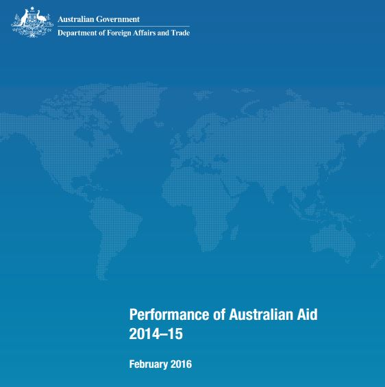 Performance of Australian Aid 2014-15 report cover