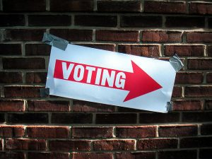 Voting sign (Flickr/Keith Ivey CC BY-NC 2.0)