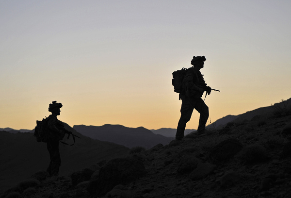 Australian soldiers patrolling in Uruzgan Province, Afghanistan (Flickr/Australian Department of Defence/Paul Berry CC BY-NC-ND 2.0)