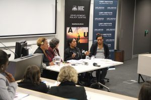 GBV panel, Canberra (photo: Devpolicy)