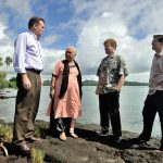 Who gives aid for adaptation to climate change in Oceania?