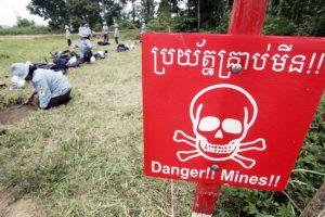Women deminers, Cambodia, 2006
