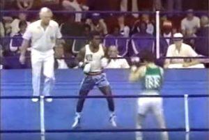 Screenshot - Tumat Sogolik v Barry McGuigan, 1978 Commonwealth Games gold medal match (Youtube/Eamon Mcauley)