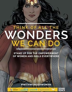 Wonder Woman UN campaign poster (source: NPR)