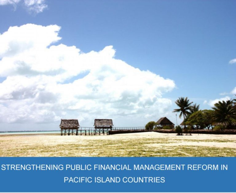 Strengthening PFM in Pacific island countries - report cover (World Bank/DFAT/MFAT/ODI)