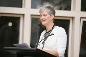 Robyn Alders delivers Mitchell Humanitarian Award acceptance speech (image: Alexandra Orme)