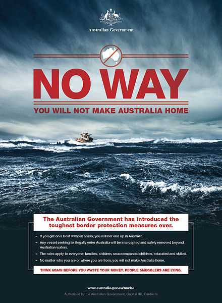 Operation Sovereign Borders poster (Wikimedia Commons)