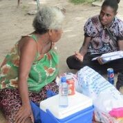 Testing the anti-corruption messaging research instrument in Port Moresby (image: Anglo Pacific Research)