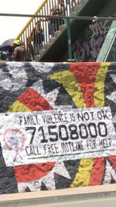 'Family violence is not OK' - bus stop, Boroko, Port Moresby (image: Michelle Rooney)