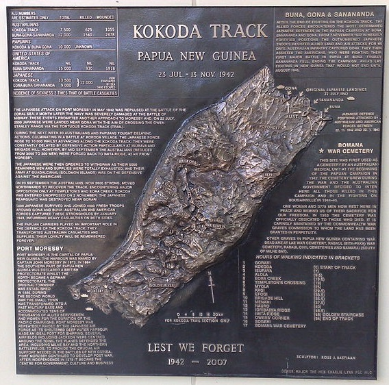 Kokoda Track plaque